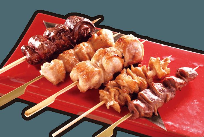 おまかせ串盛り五本(タレ または 塩)