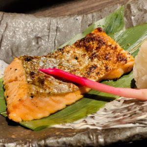 秋鮭の味噌漬け焼き