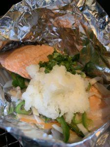 秋鮭ホイル焼き